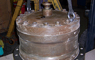 Howden 80 ton cylinder as received
